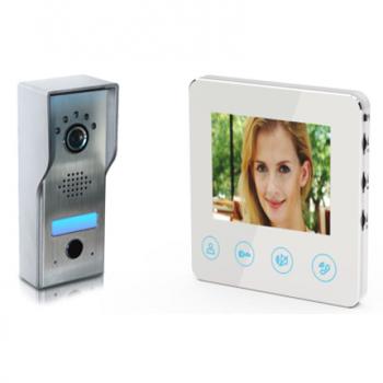 timbre de puerta seguridad de apartamento familiar Visitantes en el sistema de entrada de audio y video portero autom/ático 4.3 Timbre de video con pantalla a color EU