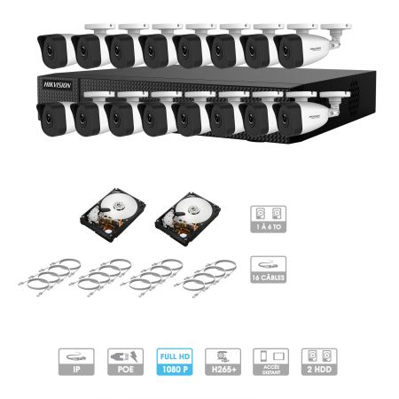 Kit de videovigilancia de 16 cámaras