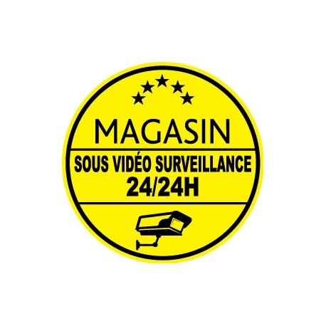 """Señal de advertencia """"almacenar bajo vigilancia por video"""""""