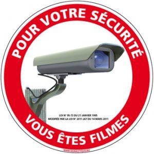 señal de advertencia de cámaras de seguridad