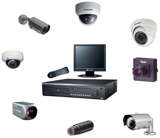 varios tipos de cámaras de seguridad