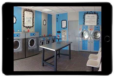 videovigilancia de lavandería automática para teléfonos inteligentes