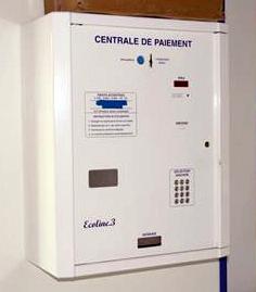 video vigilancia central, pago de lavandería
