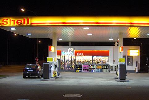 cámara de videovigilancia de gasolinera
