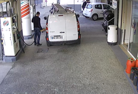 cámara de bomba de gasolinera