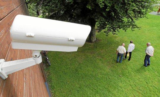 videovigilancia de un área al aire libre
