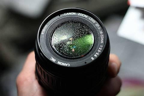 condensación en una lente de videovigilancia