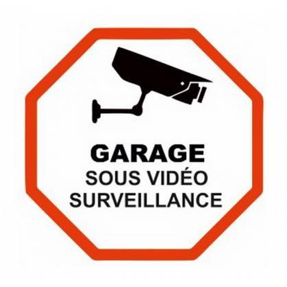 Pegatina Garage bajo vigilancia