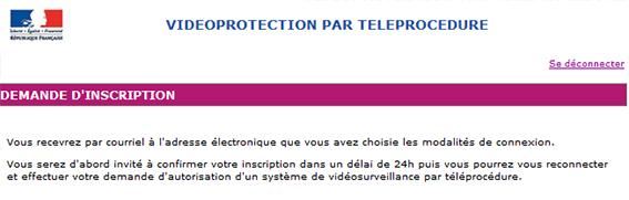 formulario de correo de recepción prefectura de videovigilancia
