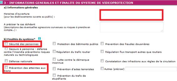 propósito formulario prefectura videovigilancia