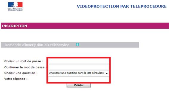 formulario de contraseña prefectura de videovigilancia