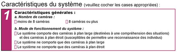 Cumplimiento del cuestionario de características del sistema