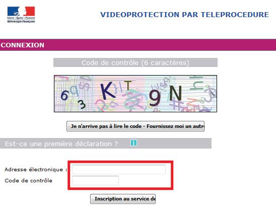 formulario de teleprocedimiento de prefectura de videovigilancia