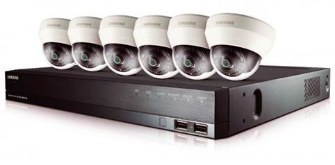 cámaras de circuito cerrado de televisión del banco