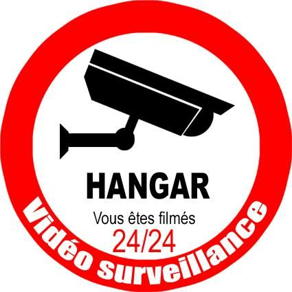 hangar bajo vigilancia por video