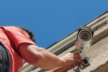 Foto de la reparación de un sistema de CCTV