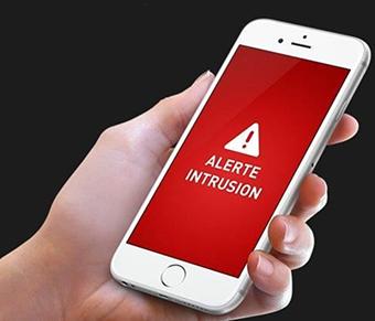alerta de intrusión de smartphone